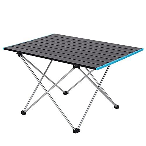 BuyWeek Mesa Plegable para Exteriores, mesas portátiles para Acampar, Mesa Plegable de aleación de Aluminio, Mesa de Campamento Ultraligera para Acampar al Aire Libre, Picnic, Barbacoa