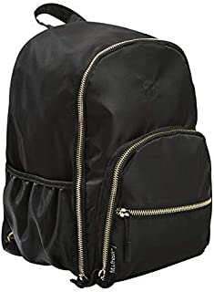 Fit & Fresh Sport Mini Backpack for Teens, Black with Gold Hardware, Stylish, Sporty