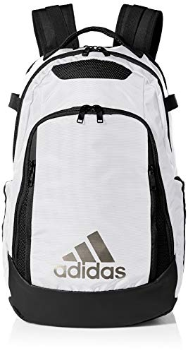 adidas Unisex 5-Star Team Backpack, White/Black, ONE SIZE