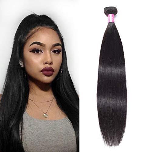 "YUZHU 8A Straight Human Hair Bundles Deals 30"" Inch 100% Unprocessed Peruvian Human Hair Weave 1 Bundles Remy Virgin Hair Extensions Natural Color 100g"