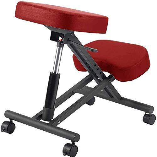 GZLL - Sedia ergonomica da inginocchiare, con seduta ortopedica, regolabile in altezza, cuscino per ginocchio, imbottitura morbida (colore: rosso)