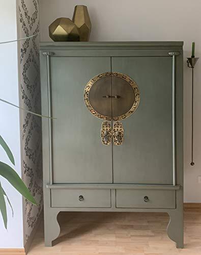 OPIUM OUTLET Marrakesch - Armario chino para boda, color verde oliva