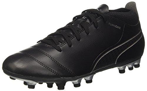 PUMA One 17.4 AG, Scarpe Da Calcio Uomo, Nero (Black-Black-Silver), 46 EU
