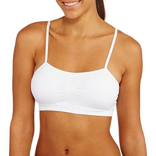No Boundaries Seamless Cami Bra Cami Medium White