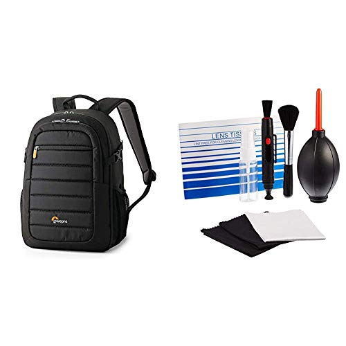 Lowepro Tahoe 150 Backpack for Camera, Black & AmazonBasics Cleaning Kit for DSLR Cameras and Sensitive Electronics