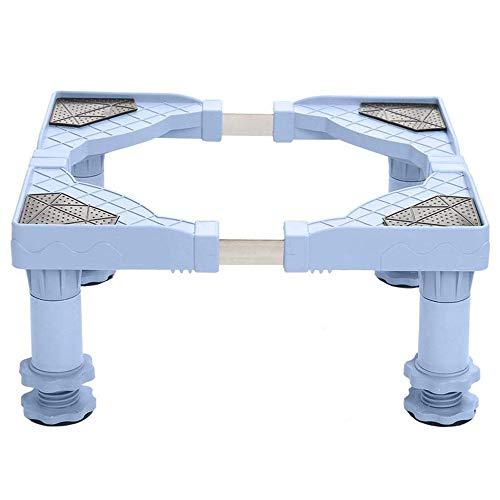 AJMINI RVS Koelkast Wasmachine-Base, Multi-Functionele Verplaatsbare Verstelbare Basis ((50-60cm lang 48-58cm breed 9-13cm hoog)