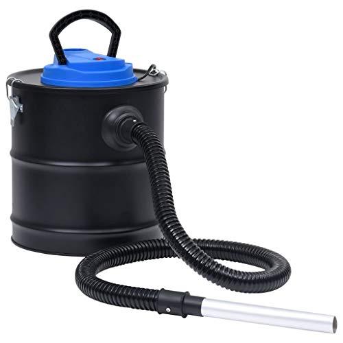 vidaXL Aschesauger mit HEPA-Filter Aluminium-Rohr Kaminsauger Grill Sauger Ofensauger Heißsauger Feinfilter Rußsauger 1200W 20L Edelstahl
