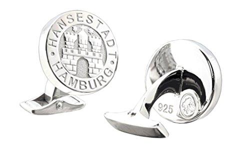 Manschettenknöpfe - Hamburg - massives 925er Sterling Silber