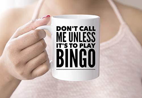 ArthuereBack Bingo-Liebhaber-Geschenk Lustige Bingo-Kaffeetasse 11oz Bingo-Spieler-Geschenk Ich Liebe Bingo-Geschenk für Mutter-Schwester-besten Freund