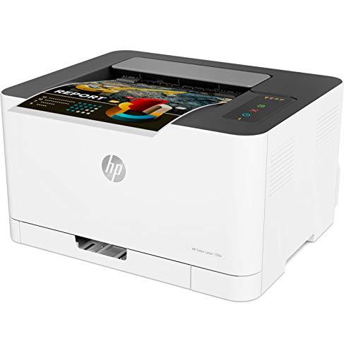HP Color Laser 150a - Impresora láser (18 ppm/4 ppm, Bandeja de Salida de 50 Hojas, LED, USB 2.0 de Alta Velocidad), Blanco