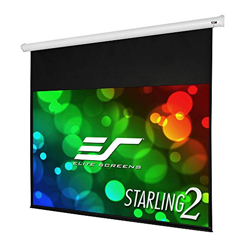 """Elite Screens Starling 2, 135-inch 16:9 with 6"""" Drop, Electric Motorized Auto HD Projection Projector Screen, ST135XWH2-E6"""