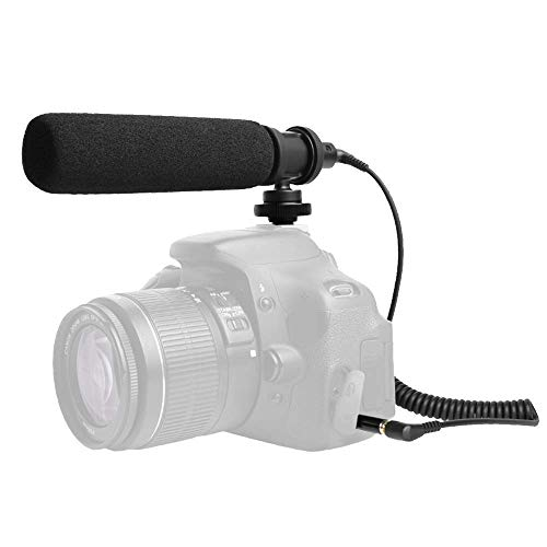 Shotgun Microphone MAONO AU-CM10 Super-Cardioid Camera Condenser Video Interview Mic Compatible with Canon, Nikon, Sony DSLR Cameras, Camcorder, PC, Phone, Android