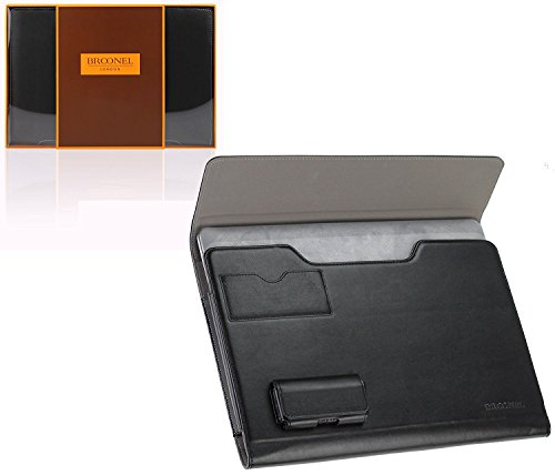 Navitech Broonel London - Prestige Series - Etui Noir en de Compatible avec Ordinateur Portable Compatible avec Dell Chromebook 11 i3