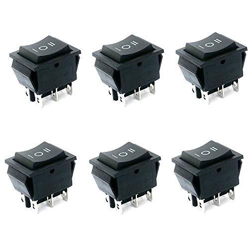 Her Kindness Interruptor Basculante 6-Terminales 3 Posicion ON/OFF/ON DPDT Barco Interruptor Mecedora 6 A 250 V/10 A 125 V(6 pcs)