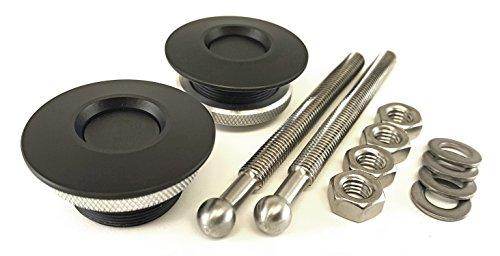 Quik-Latch QL-38-LP/BP Hood Pin Kit (Black Cerakote)