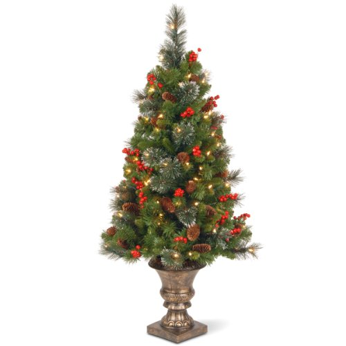National Tree Christmas Tree Crestwood Spruce, 4- Foot