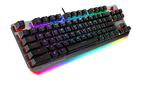 Asus Rog Strix Scope Tkl - Teclado mecánico RGB para Gaming con conexión por Cable (interruptores Cherry MX, chasis de Aluminio, reposamuñecas ergonómico)