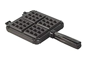 Stove top use Recipe included Compact, easy store design Bakes delicate, crisp waffles. Cooking surface-7.25 L X 7.25 W inches Made in the USA with imported handle