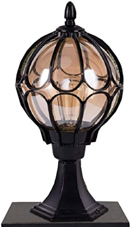 DEE Luci Post, schwarz Moderna, Bronze, Giardino Esterno Lampada Di Stile Lanterna E27,Schwarz
