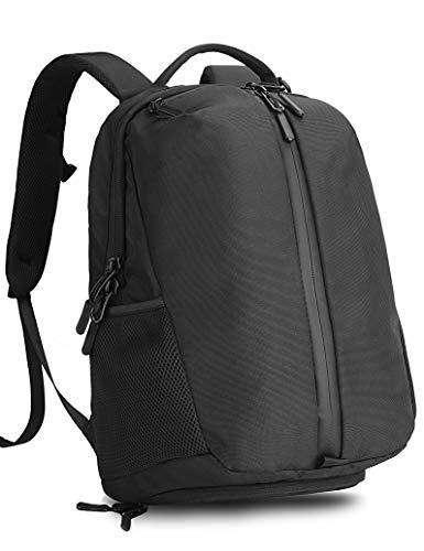Kah&Kee Compact Gym Work Backpack Waterproof Travel School Bag Good for Laptop and Multipurpose (Black II)