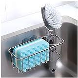 3-in-1 Adhesive Sink Caddy, Sponge Holder + Brush...