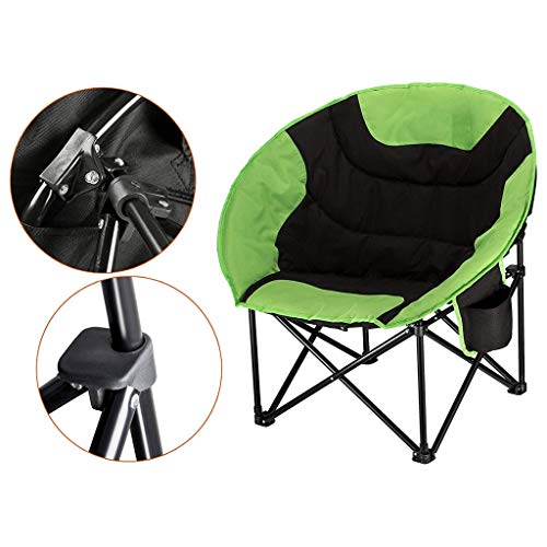 Blingstars Lunch Break, Portable Folding Chair, Going Out to Carry Camping Moon Chair Balanced and Stable Non-Slip Feet Sun Lounger The Best Way to Travel to The Villa Grass Beach Travel Picnic