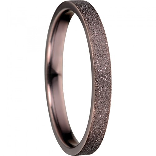 BERING Stapelring Edelstahl Sparkling Effect braun schmal Arctic Symphony Collection 557-99-X1, Ringgröße:60 (19.1 mm Ø)