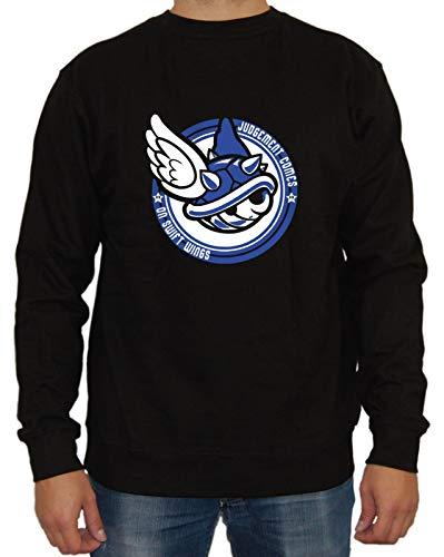 Artshirt Factory Mario Judgement Comes Sweater, Farbe: Schwarz, Größe: S