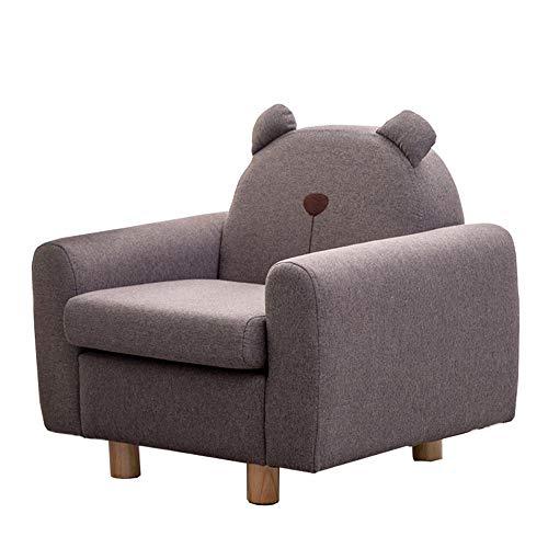 XLLLL Kindersessel Cartoon Kids Mini Sessel Holzrahmen Einsitzer Sofa Gepolstert Kinder Schaum Stuhl Geschenk Für Mädchen Und Jungen,Brown-Coffee