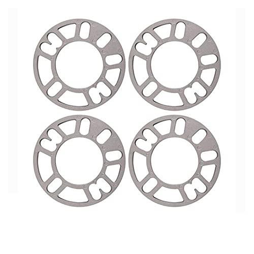 Separadores De Ruedas 4 unids/set 3/5/5/8 / 10mm Coche espaciadoras de la rueda de la placa de la placa de aluminio de la placa 4 5 Stud para 4x100 4x114.3 5x100 5x108 5x114.3 5x120 llantas