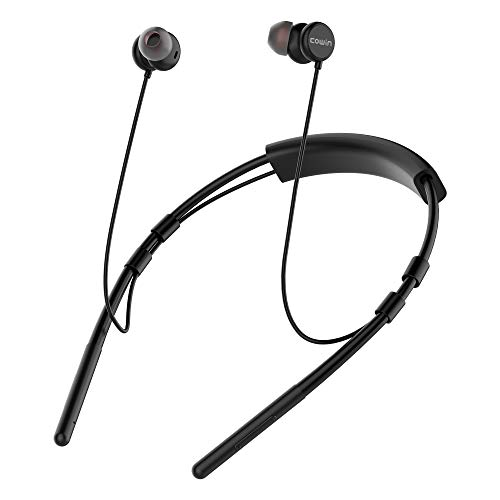 cowin Isolution Neckband Bluetooth Headphones, Wireless in-Ear Bluetooth Earbuds ith Sweat-Resistant Design Built in Microphone & Volume Control Enhanced Bass Ear Buds