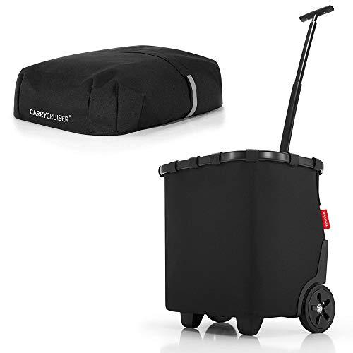 Reisenthel Carrycruiser Plus - Carro de la compra (con cubierta y protección visual), color negro