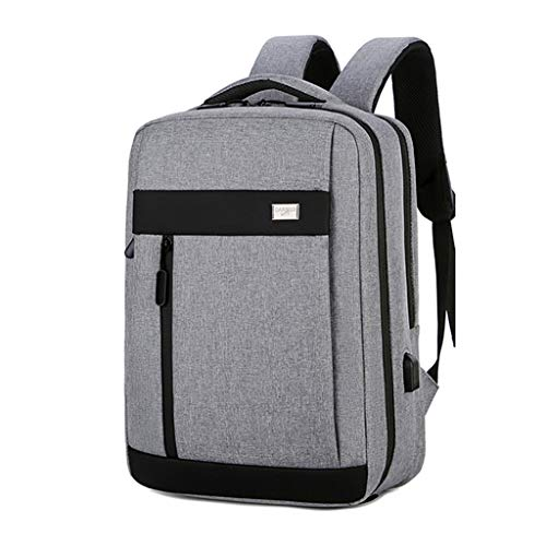 Slim Travel Laptop Backpack, Durable Business Rucksack with USB Charging Port, Water Resistant College School Computer Bag for Men Fits 15.6 Inch Laptop & Notebook (Color : Gray)