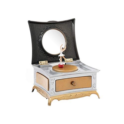 Cajas Musicales Caja de música Cajas de música mecánica de tipo rotativo de la bailarina clásica regalos de cumpleaños muchacha for niños Figuras caja de música regalo de cumpleaños ( Color : Gold )