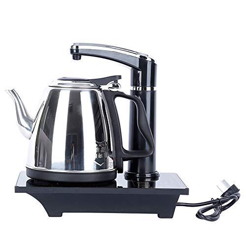 WuMei101 Hervidor automático, hervidor de Agua de Bombeo Inteligente, Conjunto de hervidor eléctrico, Conveniente para Hacer té y café. (Color : Silver)