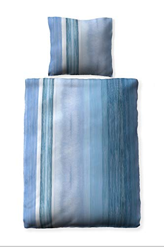 jilda-tex Seersucker-Bettwäsche Sommerbettwäsche Venedig 135x200 cm + 80x80 cm Ökotex-100 100% Bio-Baumwolle mit Reißverschluss (135x200 + 80x80 cm)