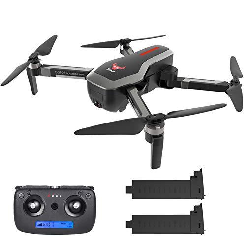 skrskr SG906 GPS Senza spazzole 4K Drone con Fotocamera Borsa 5G WiFi FPV Pieghevole Portata Ottica di Posizionamento Altitude Hold RC Quadcopter Drone con 2 Batteria