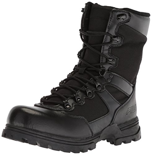Fila Men's Stormer Military and Tactical Boot Food Service Shoe, Black, 12