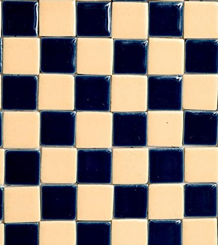 factorydirectcraft Blue and Cream Choice Checkered New sales - Ceramic Tile Doll