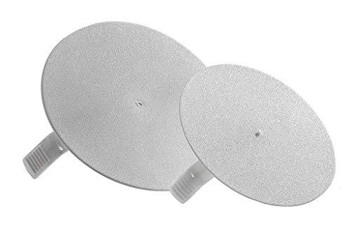 10 Stück - Deckel für Dose/Gehäuse für Montage in der Wand/Decke Federdeckel 82mm rund weiß