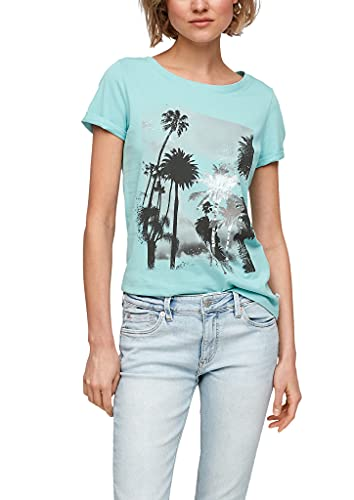 Q/S designed by - s.Oliver Damen 2063539 T-Shirt, Turquoise, M