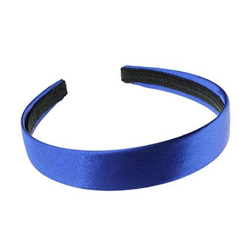 2 cm (2 cm) de large Bleu recouvert de satin Alice Bandeau Cheveux Bandeau