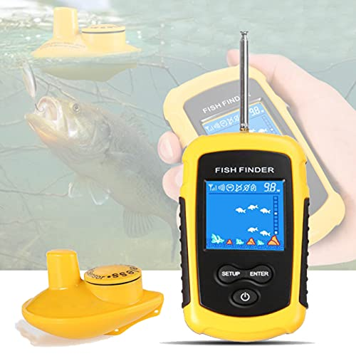 Fish Finder Wireless 120m Wireless Fishing Finder Alarm 40m Djupare Fishfinder För Shore Fishing