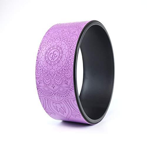 Rueda de Goma de la PU Engrosada Anti-presión Curva de Vuelta Yoga círculo Corcho Rueda de Yoga Auxiliar púrpura PU 33 * 13 cm