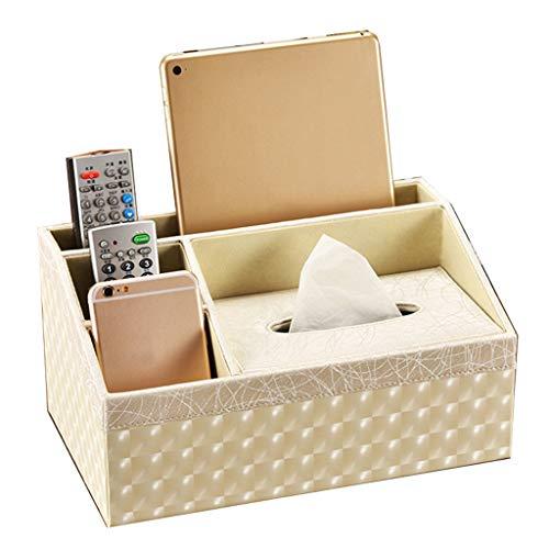 LNNA Haushalt rechteckige Wasserdichte PU Leder Tissue Box europäischen Multifunktions Wohnzimmer Couchtisch Fernbedienung Aufbewahrungsbox Enthüllung Serviette Tablett, 29x17,5x15cm