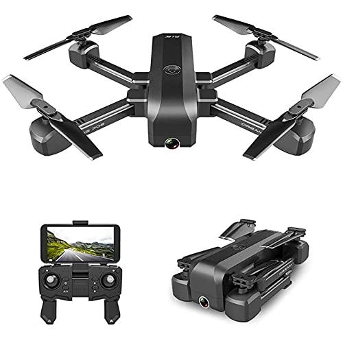 HJRBM Drone con Telecamera HD 1080P FPV Posizionamento del Flusso Ottico Mantenimento dell'altitudine Smart Follow modalità Senza Testa Ritorno a Una Chiave Pieghevole per Adulti