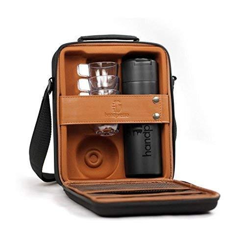 Handpresso 48242 Tasche/Koffer schwarz für Handpresso Pump mit Thermosflasche und 4 unzerbrechlichen Tassen