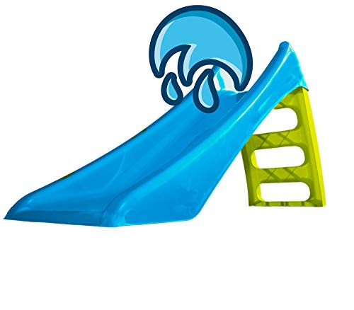 Woopie Water Slide Outdoor GardenToys for Childrens Kids Toddlers Waterslide Activity Freestanding slide 45 inch 116cm (Blue)
