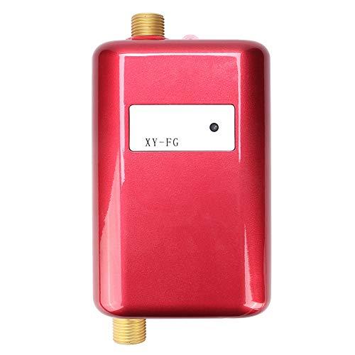 Caredy Riscaldatore di Acqua Calda Senza Serbatoio Elettrico 220 V 3800 W Mini scaldabagno Elettrico istantaneo Caldo a Doppio Uso Sistema di Acqua Calda istantanea(Spina UE 220V 3800W)