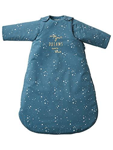 Vertbaudet Baby Schlafsack,Polarstern mit Eisbär, Ärmel abnehmbar dunkelblau 107